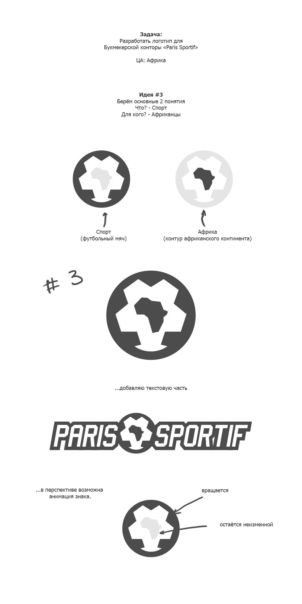 Идея логотипа Paris Sportif 3